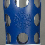 Lifefactory glass water bottle 22oz blue