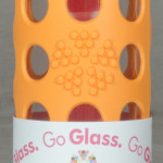 LifeFactory Glass water bottle 9oz orange