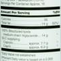MCT structured lipid nutrition label