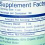 BioPure Vital four nutrition label