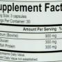 Energetix GLAT-immune nutrition label