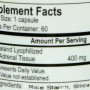 Energetix adrenal force nutrition label