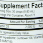 Energetix liquid vitamin D3 nutrition label