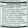 Energetix core ginkgo blend nutrition label