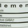 Thorne pharma GABA-250 nutrition label